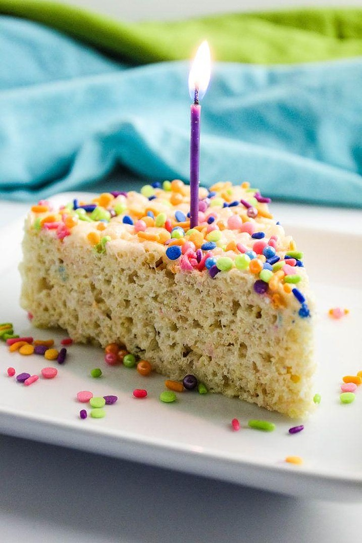 Excellent Cake Batter Rice Krispie Treats Baking You Happier Funny Birthday Cards Online Sheoxdamsfinfo