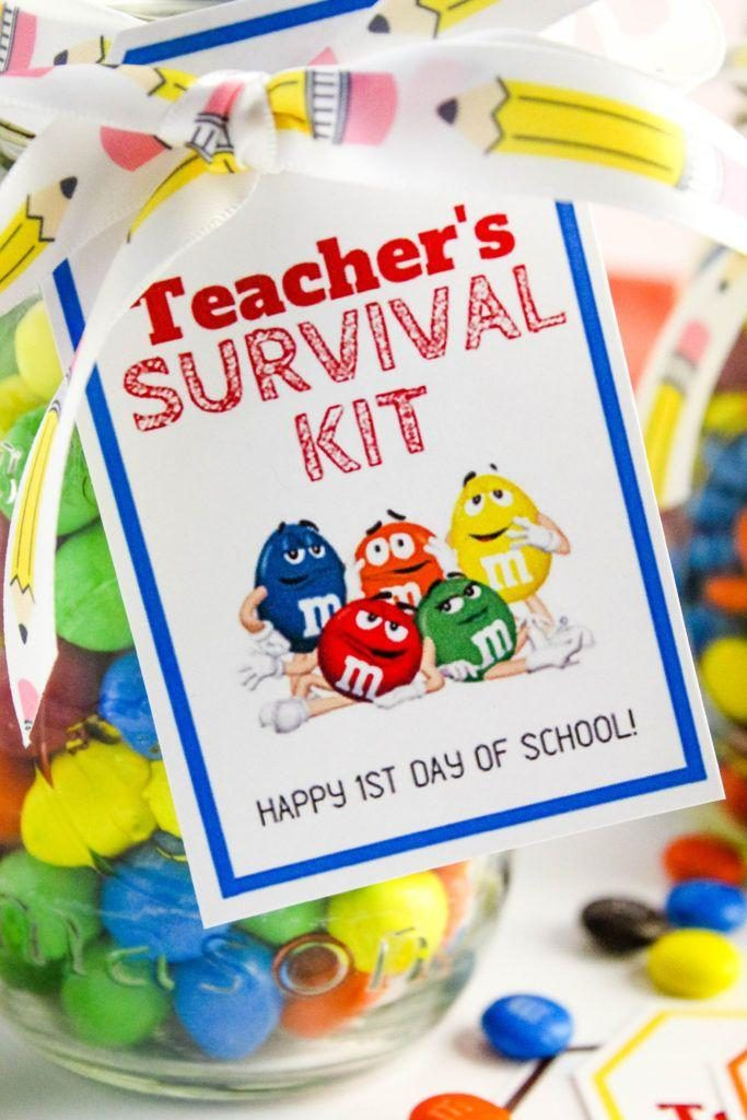Back to School Teacher's Survival Kit with Free Printable